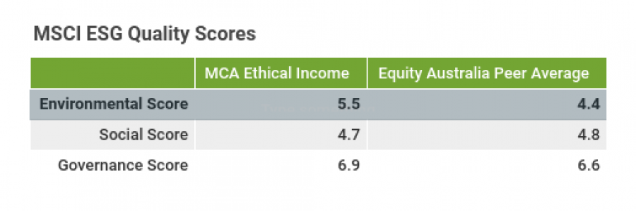 Ethical-income-esg-performance