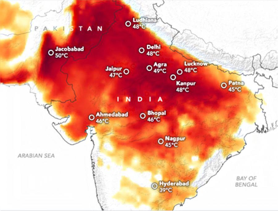 India heat map
